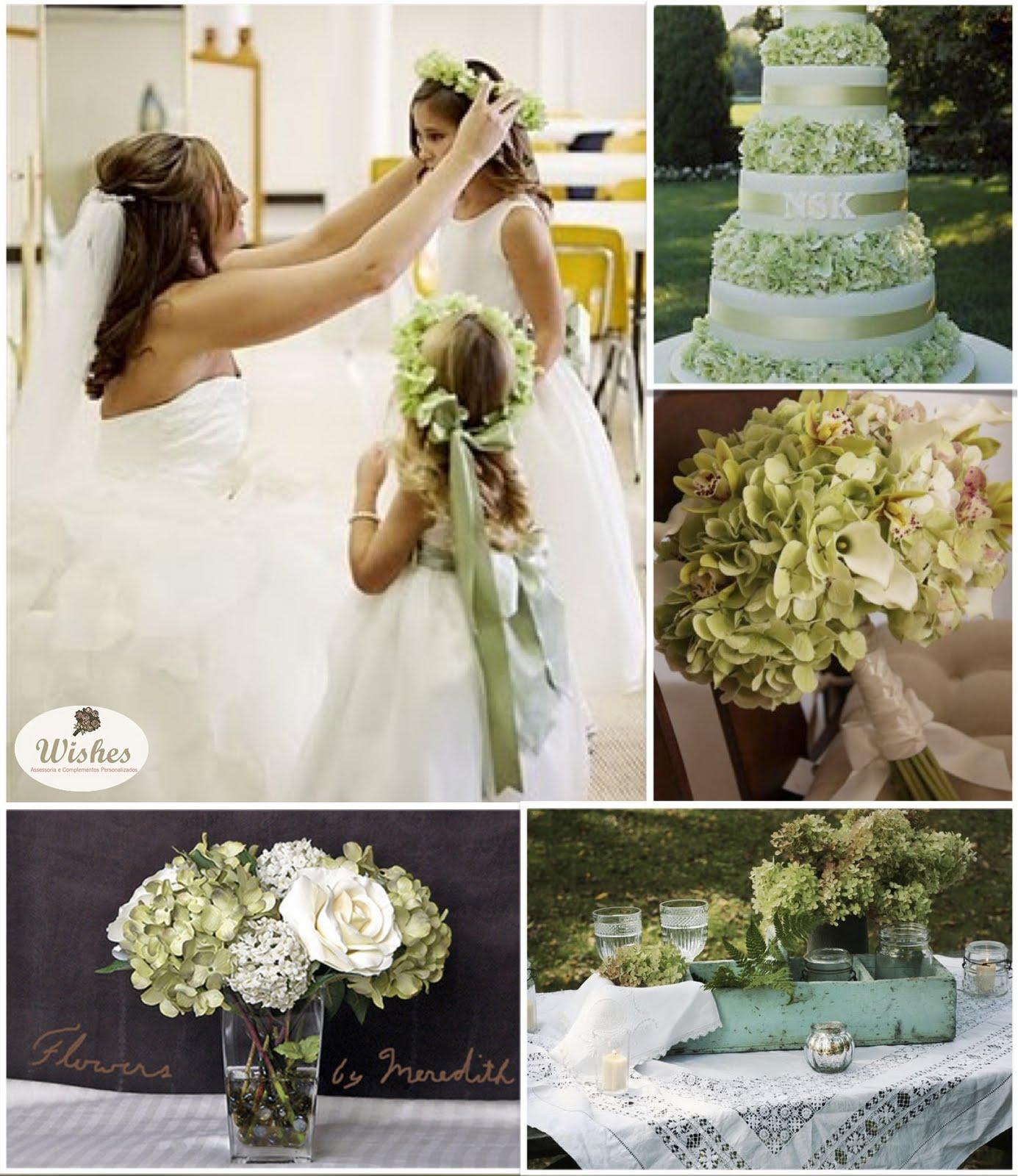 decoracao casamento hortensiashortênsias na decoração de casamento